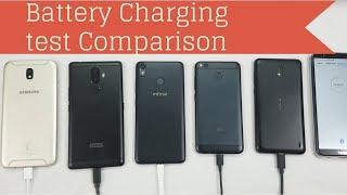 Infinix Hot S3 VS J7 Pro VS K8 Note VS Redmi 4 VS Nokia 2 Battery Charging Test