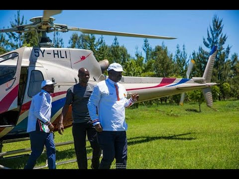NASA Leaders arrive with Expensive Helicopters for the Nakuru Rally. See the MEGA Entrance (Video)