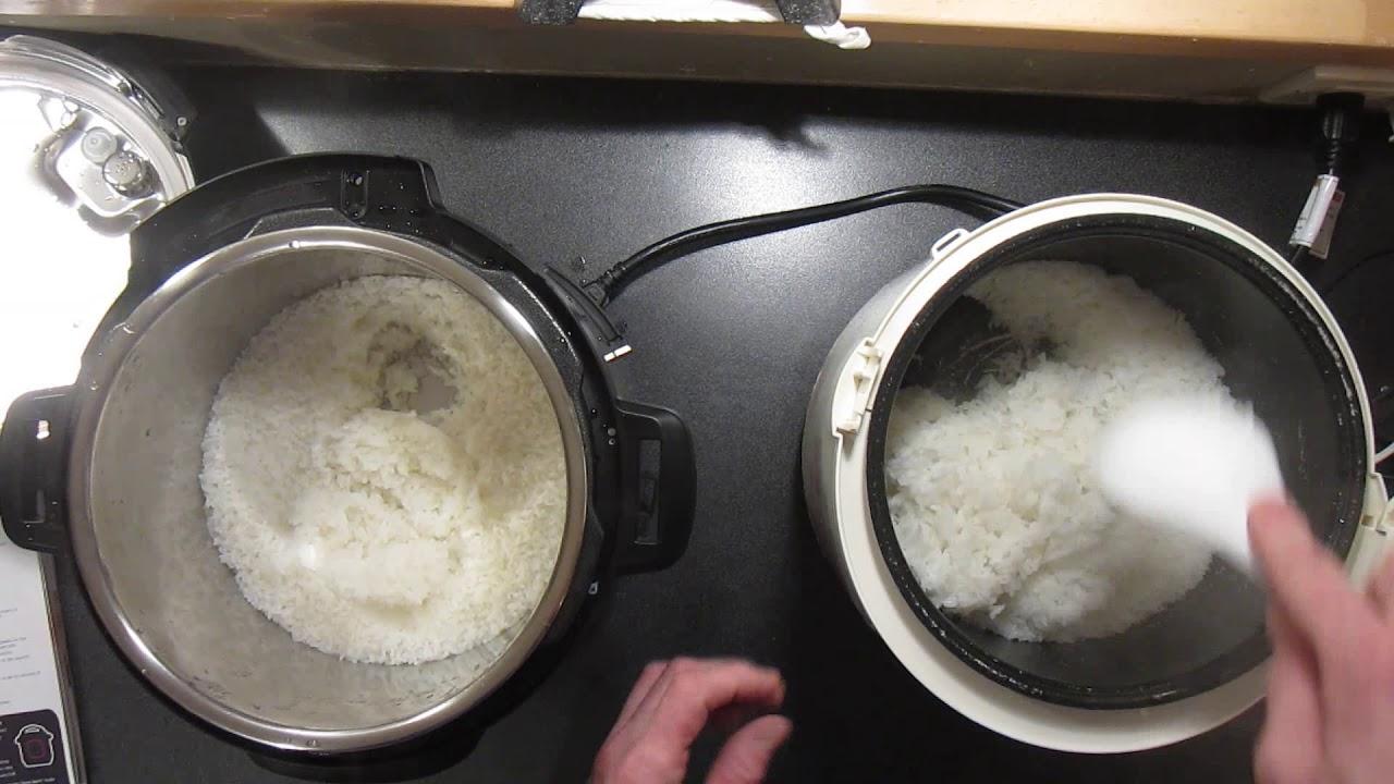 Making Rice Instant Pot Vs Rice Cooker Youtube