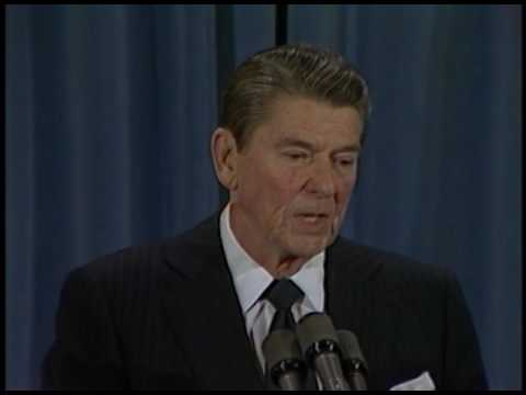 President Reagan's 16th Press Conference in the East Room on February 16, 1983