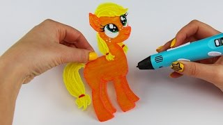 Applejack Child How to Draw with 3D Pen My Little Pony Drawing Witout Scetch