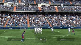 "FIFA 11 Tutorial - ""The Dipping Free Kick"" - Free Kick Tutorial 1"