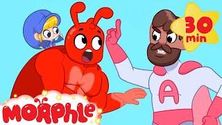 SUPERHERO MORPHLE VS MR ACTION My Magic Pet Morphle | Cartoons For Kids | Morphle | Mila and Morphle