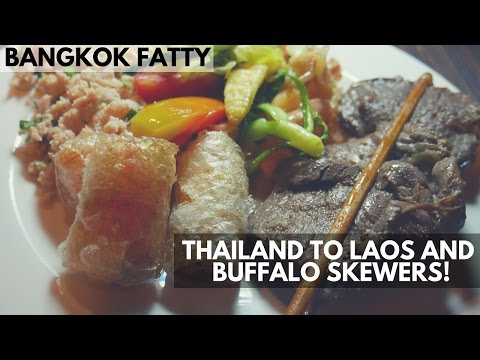 First Laos Travel Vlog, Luangsay Resort Room Tour, and Buffalo Skewers!