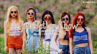 [3D+BASS BOOSTED] RED VELVET (레드벨벳) - YOU BETTER KNOW | bumble.bts