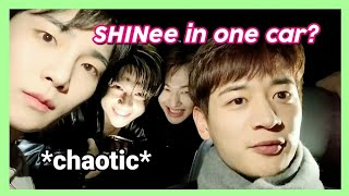 what happens when you put shinee together in the same car