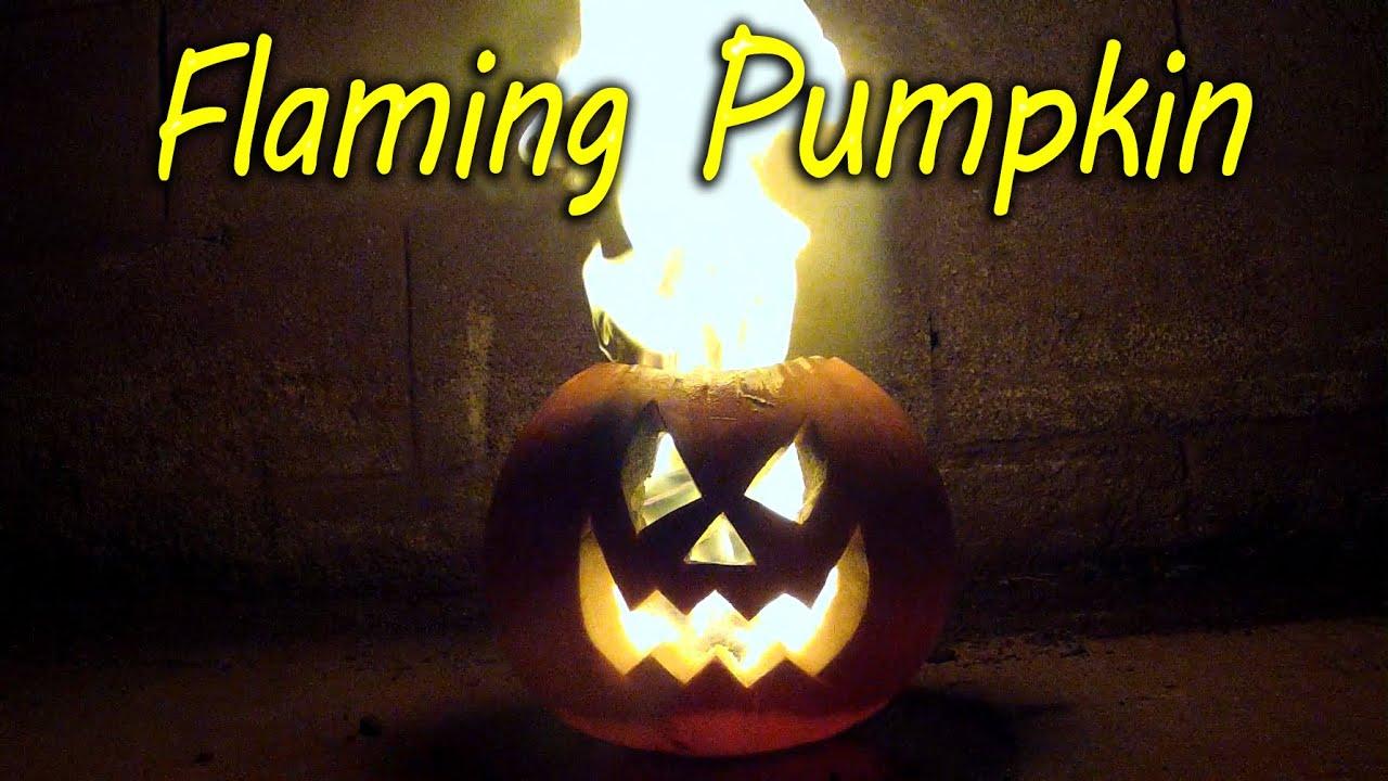 how to make a flaming pumpkin halloween jack o lantern youtube