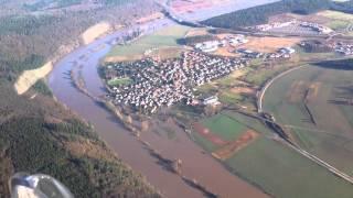 Hochwasser und Morgennebel bei Wertheim am Main 16. Jan 2011 --- Heilbronn --