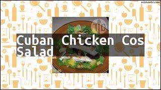 Recipe Cuban Chicken Cos Salad