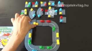 Popular Playthings, Cross Roads játékszabály, útépítős, autós, egyszemélyes logikai játék, 8-99 év