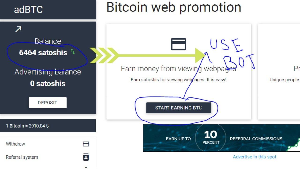 click to earn bitcoin