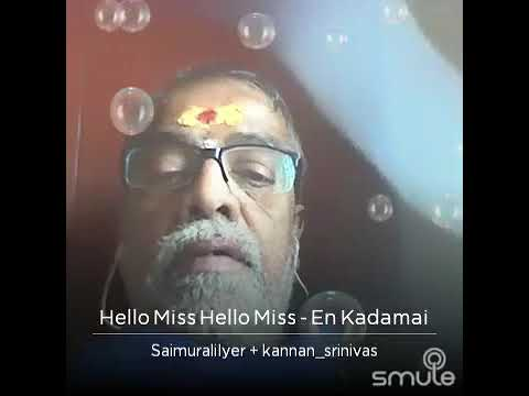 Saimurali Sings Hello Miss Hello Miss....A Popular Song From MGR-TMS Collab🌹😊