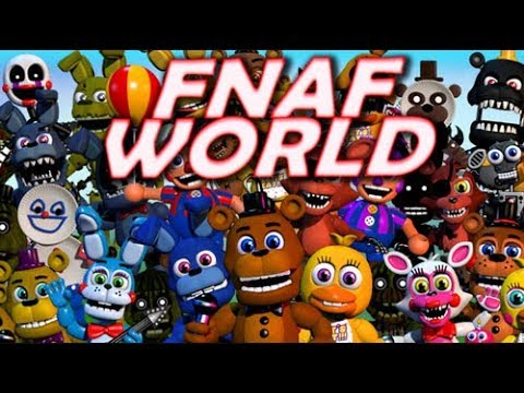Beating FNAF World 100% For The 3rd Time [Live]