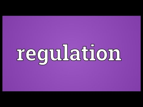 Regulation Meaning