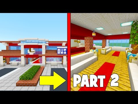 """Minecraft Tutorial: How To Make A Modern Bus Station Part 2 """"2019 City Tutorial"""""""