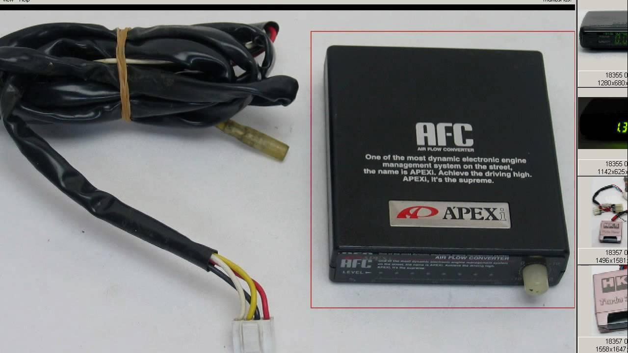 Apexi AFC Air fuel converter A/F controller - YouTube