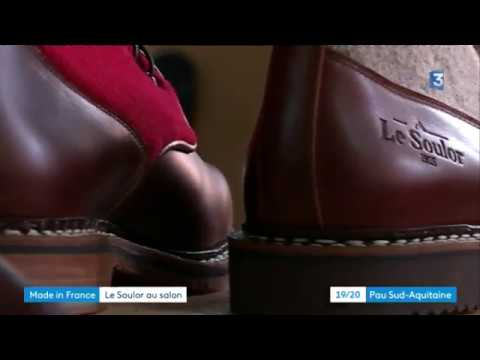 31a4ffd3256 Béarn  les chaussures Soulor au salon du Made in France - YouTube