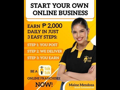Toktok Online Franchise Delivery Service with Maine Mendoza (Jobs, trabaho, pagkakakitaan)