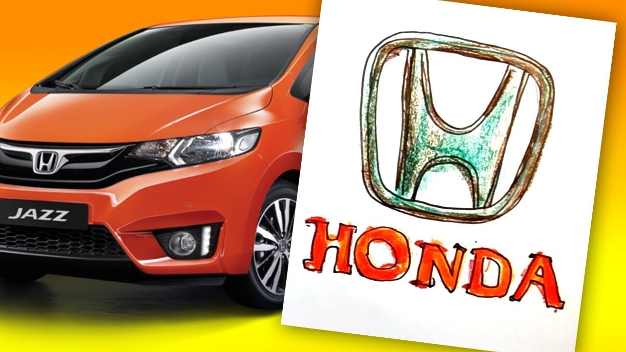 How To Draw HONDA Logo AUTO LOGO Car
