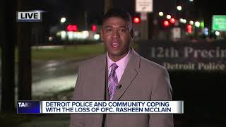 Detroit police and community coping with the loss of Officer Rasheed McClain