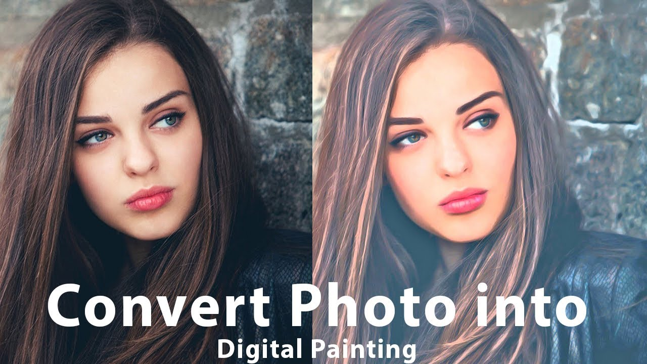 Photoshop cc convert photo into digital painting