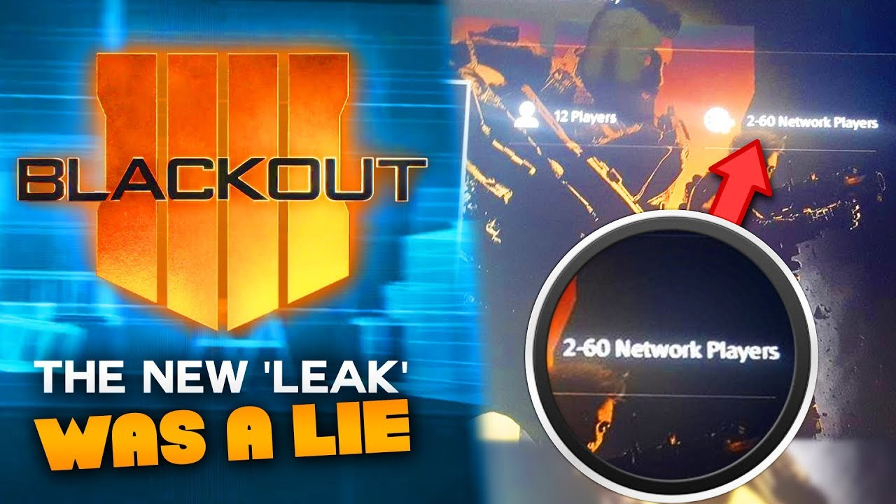 Black Ops 4 Blackout: This Was a LIE (Player Count