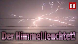 Heftiges Blitzlicht-Gewitter über Japan!