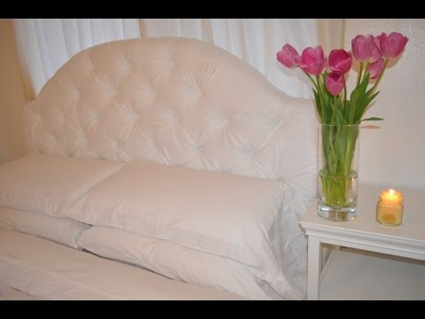 diy tufted headboard tutorial youtube. Black Bedroom Furniture Sets. Home Design Ideas