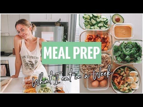 HEALTHY MEAL PREP!! (What I Eat in a Week) thumbnail