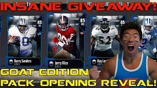 GOAT LEGEND PACK OPENING! I GIVEAWAY EVERY ELITE I PULL! MADDEN 18 PACK OPENING