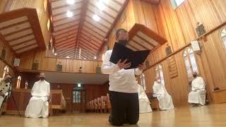 수도원 전례 - 김진솔 막시모 수사 수련착복 20210426