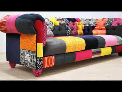 Multi Coloured Patchwork Sofa Youtube