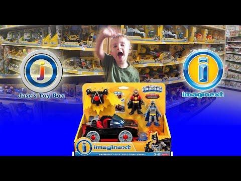 New Imaginext Toys! Toys R Us! New Batman & Robin Red Batmobile & Jetpack