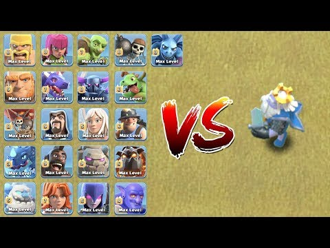 ALL TROOPS VS ROYAL GHOST | WHO WILL WIN ?? | CLASH OF CLANS |