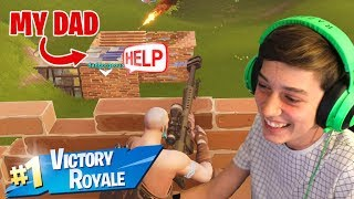 Can I Get A Fortnite Victory Royale With My Noob Dad!?