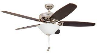 Honeywell 52-Inch Belmar Ceiling Fan with Brushed Nickel Finish (50194)