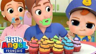 Qui a mangé un cupcake? Johny Johny - Comptines pour Bébé | Little Angel Français