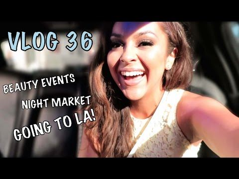 Beauty Events, Night Market & Going To LA!! - Vlog 36 - TrinaDuhra