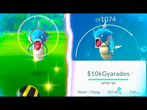 WILD GYARADOS CAUGHT! - Pokemon Go - FINDING WILD RARE GYARADOS!