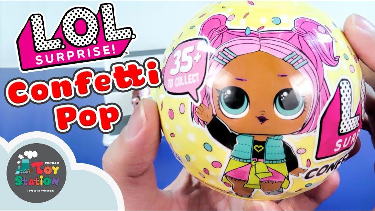 Banh LOL Surprise 9 bất ngờ Confetti Pop và 5 bất ngờ Lil Sister Series 3 ToyStation 214
