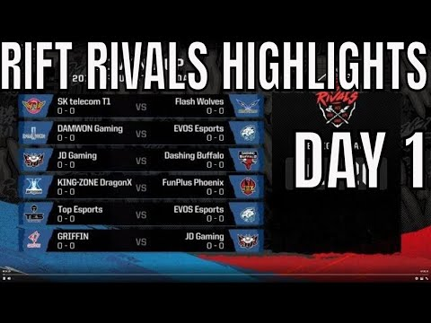 Rift Rivals LCK LPL LMS HIGHLIGHTS ALL GAMES Day 1 - Rift Rivals 2019