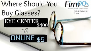 Should You Buy Glasses Online or at Eye Doctor? Firmoo Prescription Glasses Review | 2018