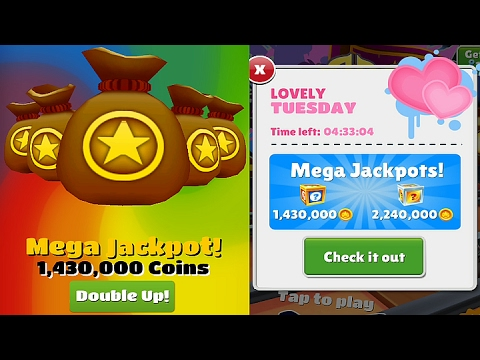 1,430,000 Coin Valentine's Special Mega Jackpot on Subway Surfers (Crashed while Doubling) HD