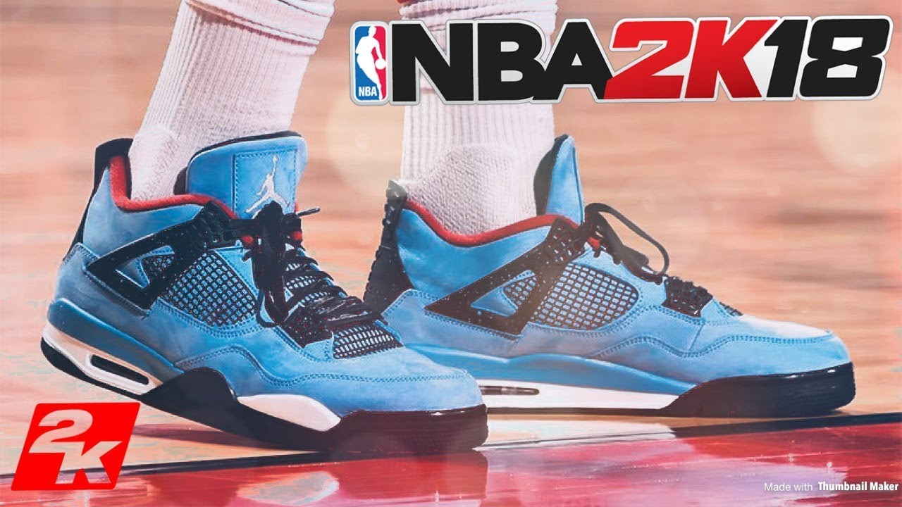 NBA 2K18 SHOE CREATOR TUTORIAL HOW TO MAKE AIR JORDAN TRAVIS SCOTT