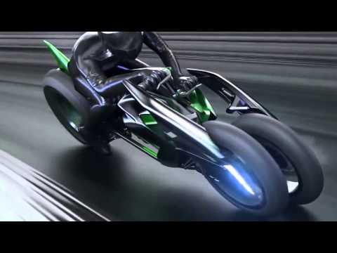 "Kawasaki ""J"" Concept - electric motorcycle - 2013 Tokyo Motor Show"
