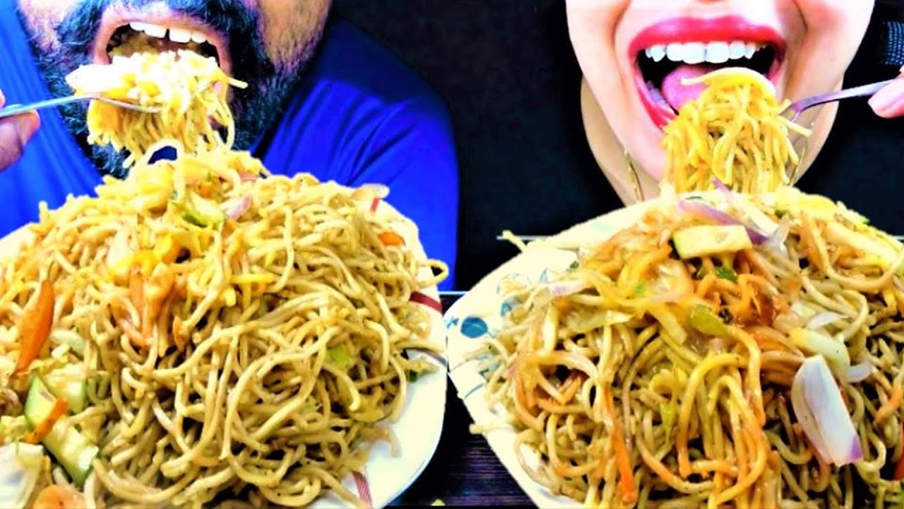 ASMR EATING CHALLENGE SPICY NOODLES CHOWMEIN WITH EGG*EATING NOODLES VIDEO* EGG CHOWMEIN#EATINGVIDEO