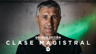 Clase Magistral: Quique Setién, Táctica, La Liga 17/18, Re...