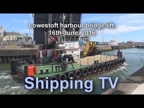 ABP Port of Lowestoft - bridge lift, 16 May 2016