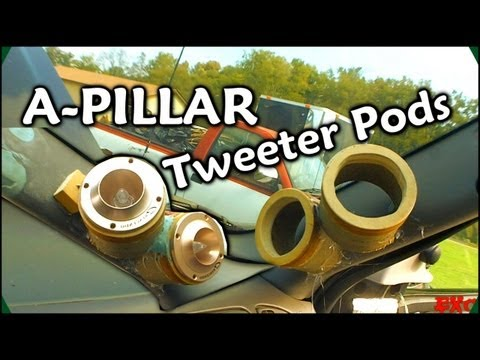 Making Fiberglass Tweeter Pods | Custom Car Audio A Pillars w/ 6 Crescendo Ft1 Bullet Horn Tweeters