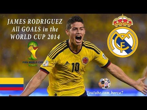 James Rodriguez All 6 Goals World Cup 2014 HD720